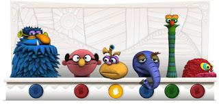 Jim Henson Google Doodle, logo google lucu, doodle muppets picture