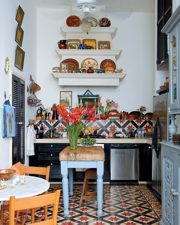 Bohemian Kitchen Loud And Proud Tiles Add A Touch Of The Exotic