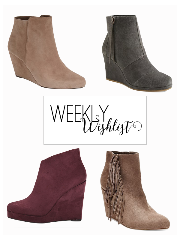Wedge Ankle boots, ankle boots, fall boots, fall ankle boots, boots, wednesday wishlist