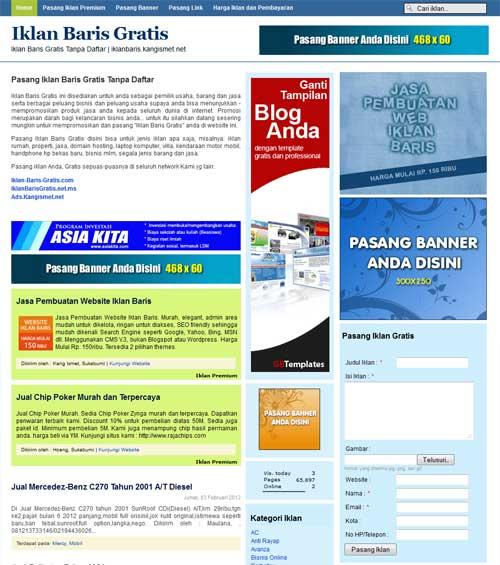 iklanbarisblogger-template