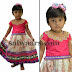 Baby in Cream and Pink Kundan Skirt
