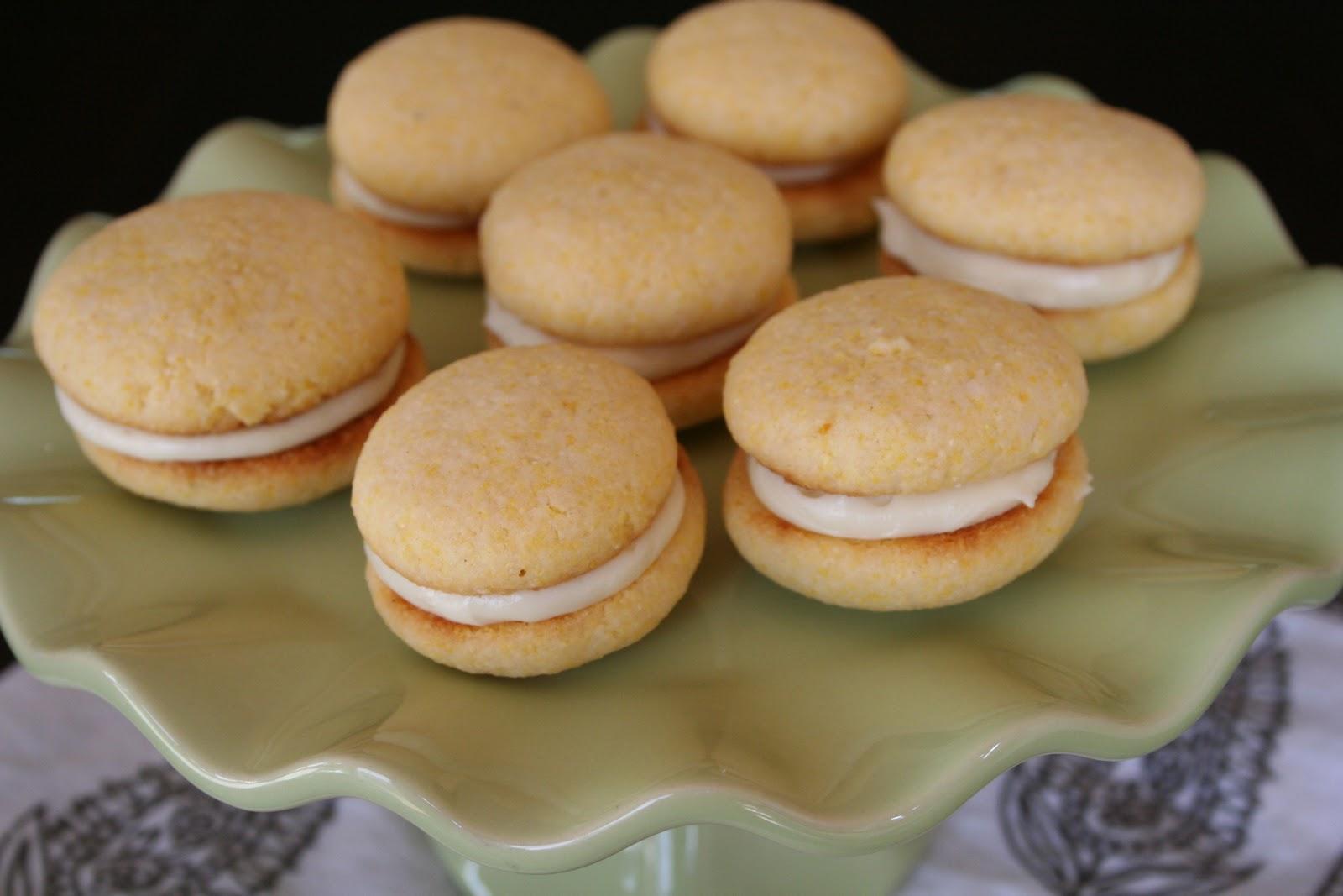 Naked Cupcakes: Lemon Cornmeal Cookie Sandwiches