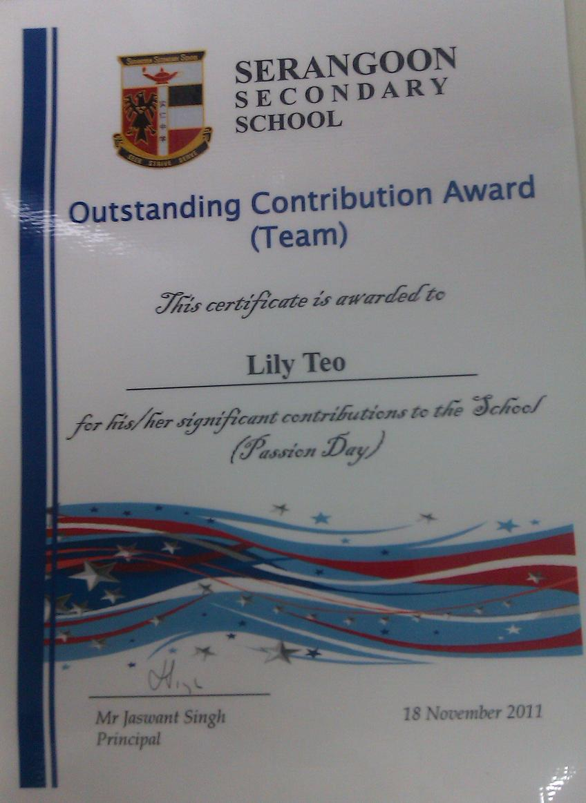 lily lee  outstanding contribution award