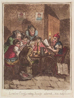London Corresponding Society, alarm's' by James Gillray, 1798