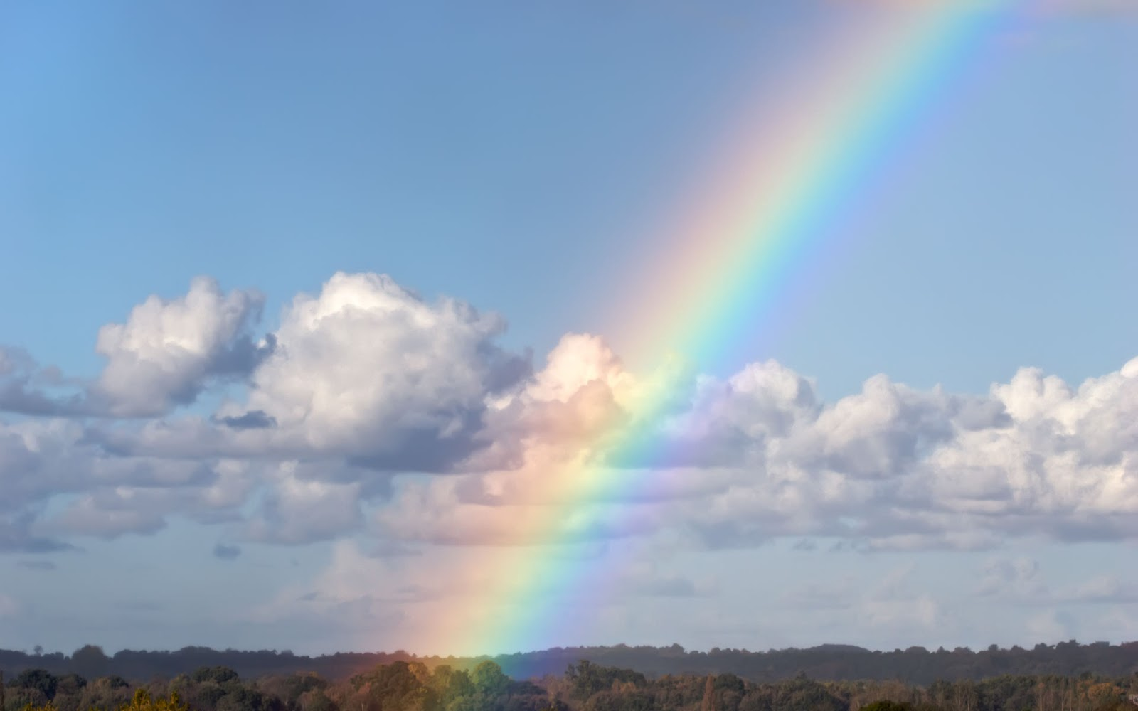 blue cloud with rainbow wallpaper - photo #1