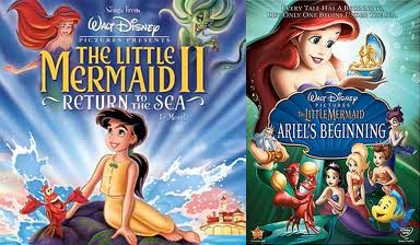 "Combination pack of sequel ""The Little Mermaid"" animatedfilmreviews.blogspot.com"