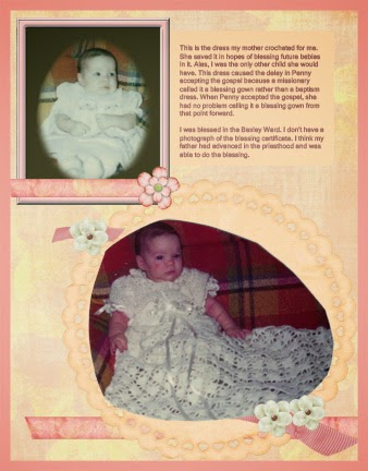 Heritage Scrapbooking Baby Layout