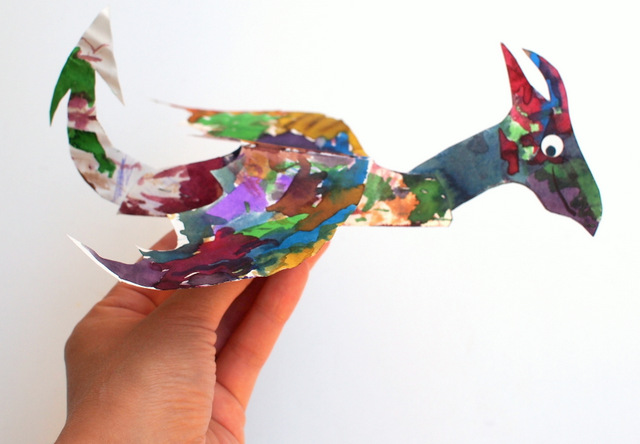 how to make and paint paper plate dragons with kids