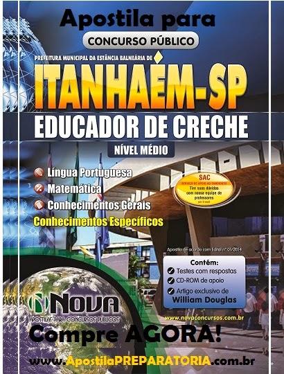 Apostila Concurso Prefeitura de Itanhaém - SP 2014