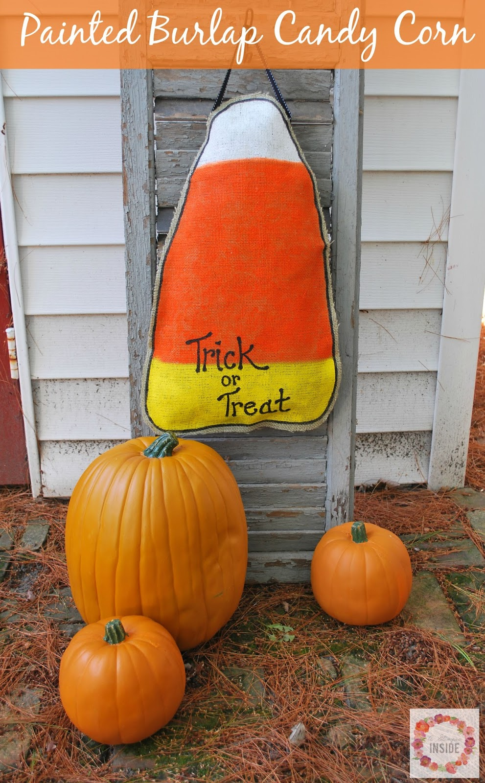 http://www.aglimpseinsideblog.com/2015/09/painted-burlap-candy-corn-hanging.html