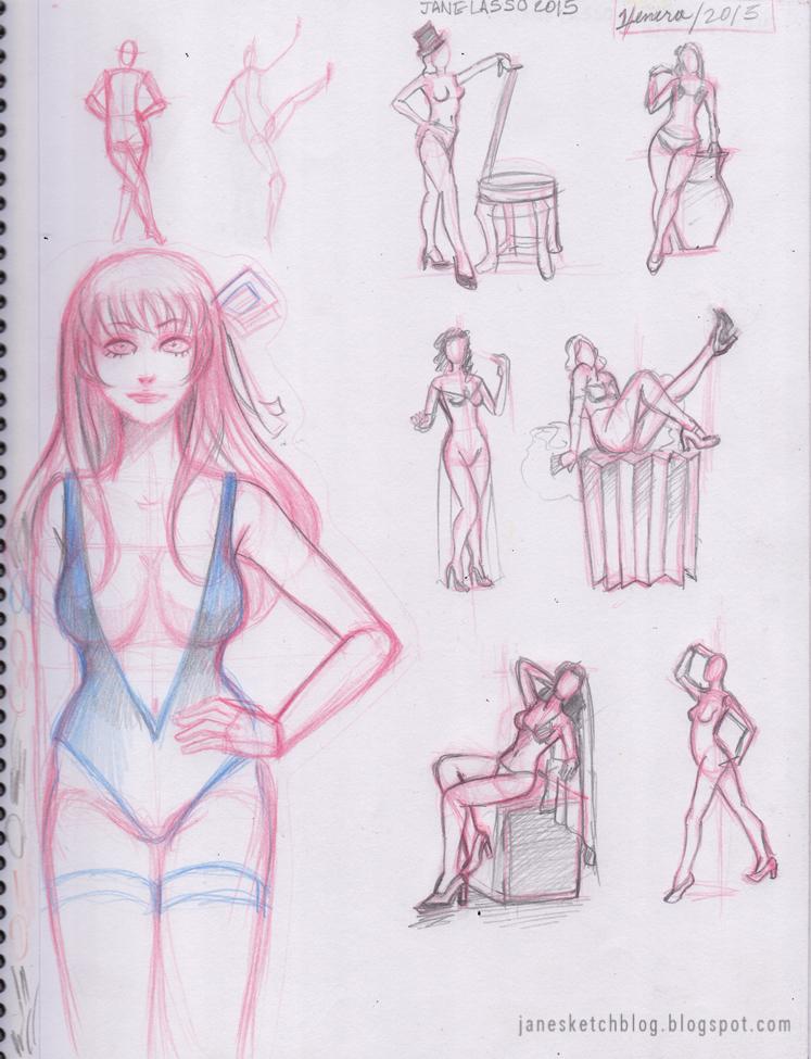 sketches y prácticas a lápiz