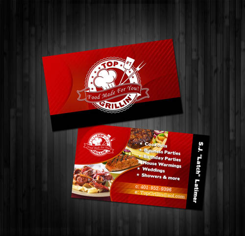 Chef business cards leoncapers chef business cards colourmoves
