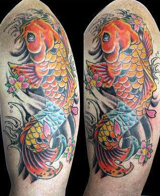 Best tattoos for men koi fish tattoo for Blue coy fish tattoo