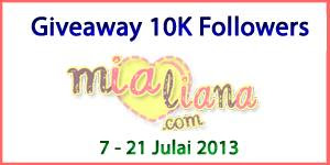 Giveaway 10K Followers Mialiana.com