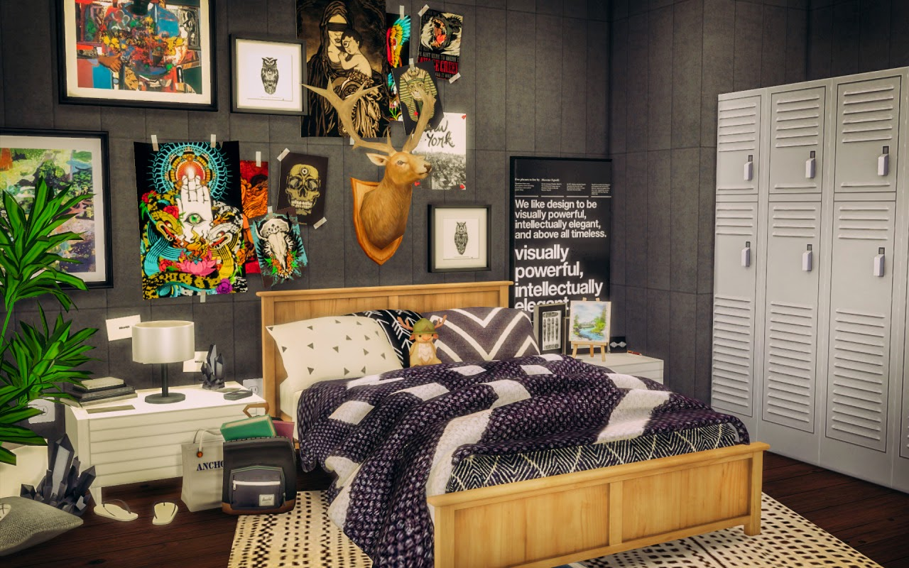 My sims 4 blog sylvan bedroom room by simsalachie for 4 bedroom
