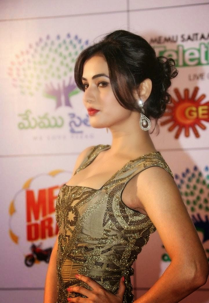 Sonal Chauhan posing at South Indian Movie Event
