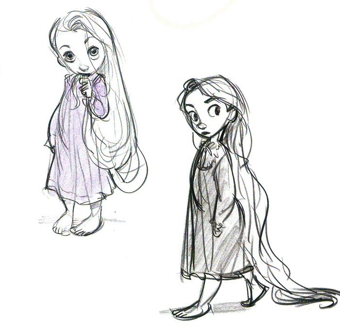 Tangled Character Design Development : Cartoon concept design glen keane art