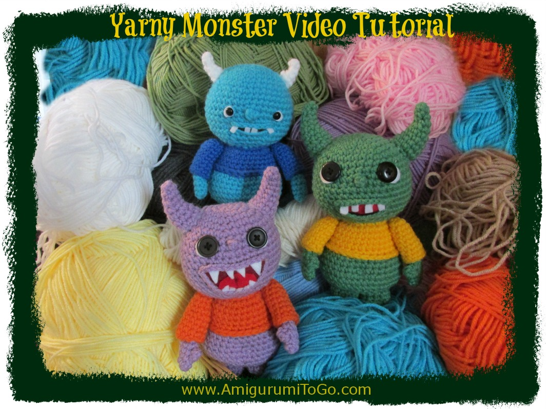 monsters made with yarn