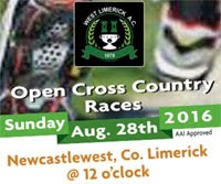Open Cross Country in W.Limerick...Sun 28th Aug 2016