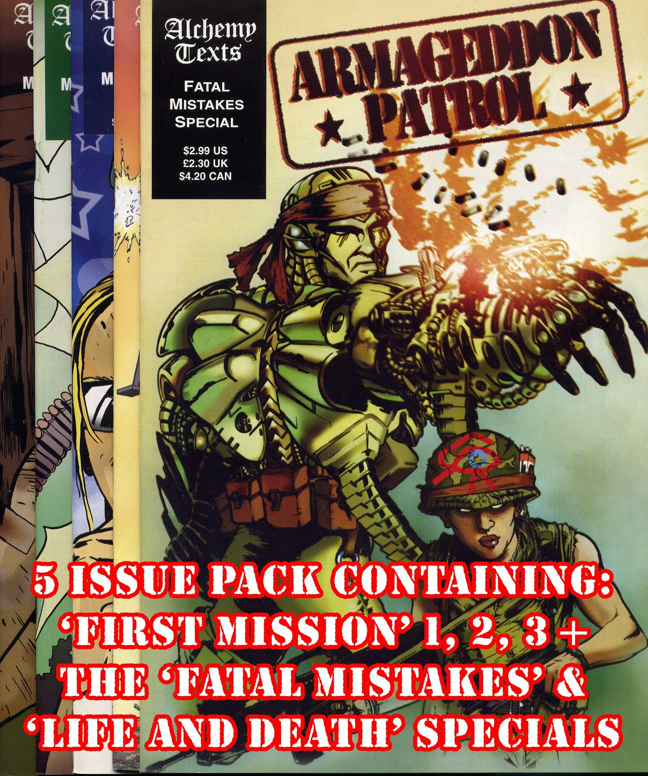 Buy the 'Armageddon Patrol' 5 issue pack below!