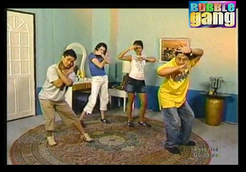 Bubble Gang Pays Tribute to Tropang Trumpo October 2003 Gelli de Belen, Carmina Villaroel, Ogie Alcasid, and Michael V do the Caronia Chicken Dance Retro Gag Show TV5 Pilipinas Feature