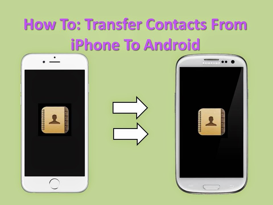 transfer iphone data how to transfer iphone contact to android