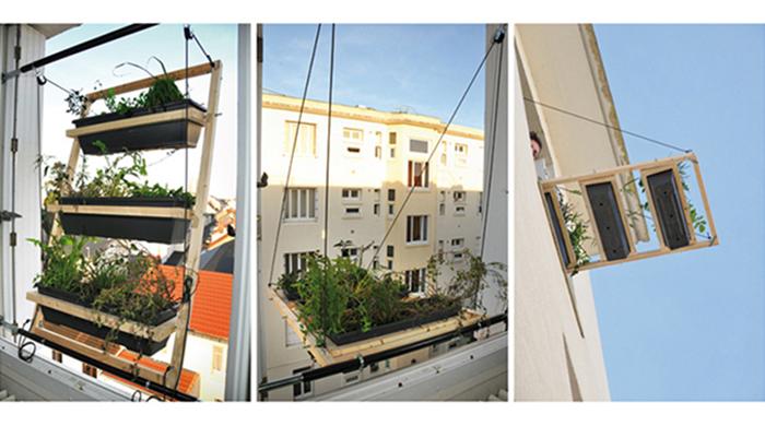 Ingenioso sostenedor de planta permite la jardinería en espacios pequeños
