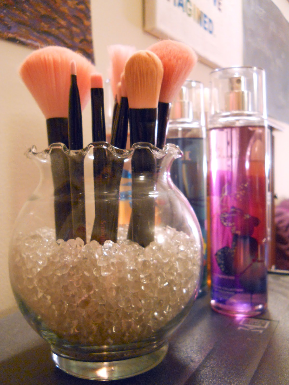 brush holder beads. sephora inspired makeup brush holder beads b
