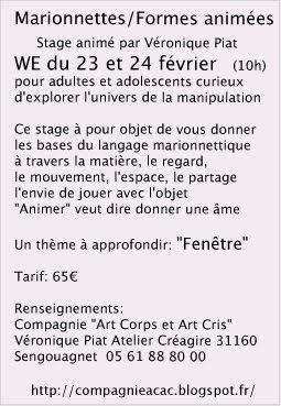 texte stage marionnette