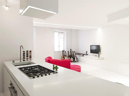 Hogares frescos loft minimalista y moderno con dise o de - Diseno interior minimalista ...