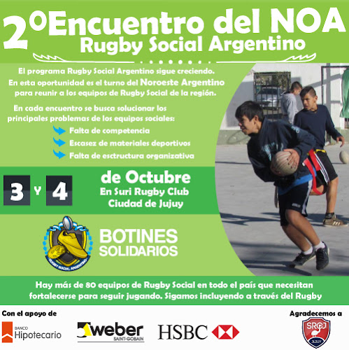 Rugby e inclusión social: Suri RC se prepara para el encuentro del NOA