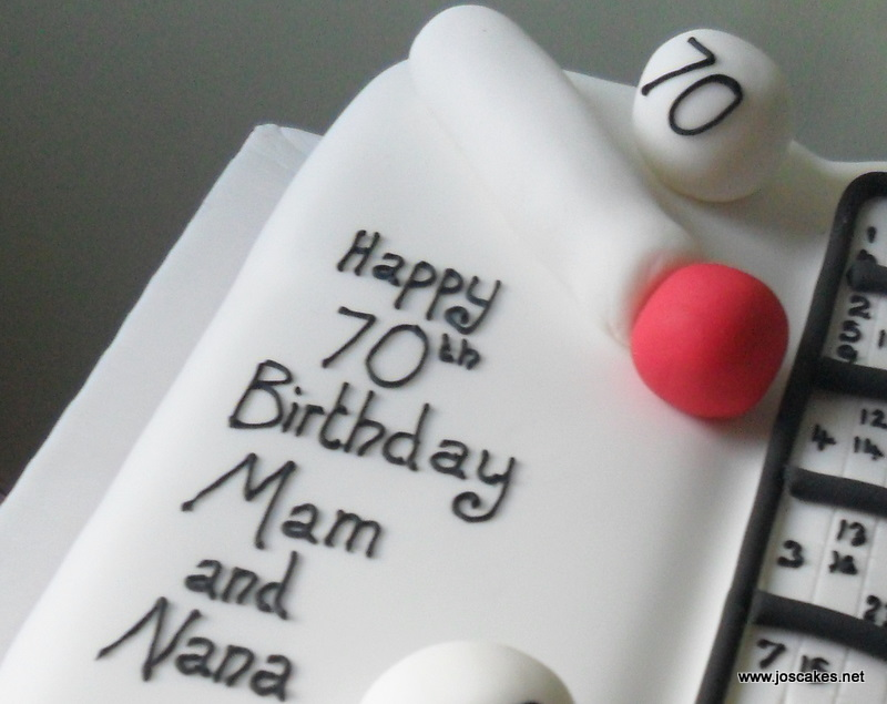 For A Bingo Fans 70th Birthday And Consisted Of Delicious Vanilla Sponge Covered In Fondant Then Iced With Message Card