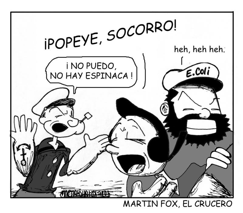 Martin Fox Comics: Spanish Political Cartoon - Popeye sin espinaca!