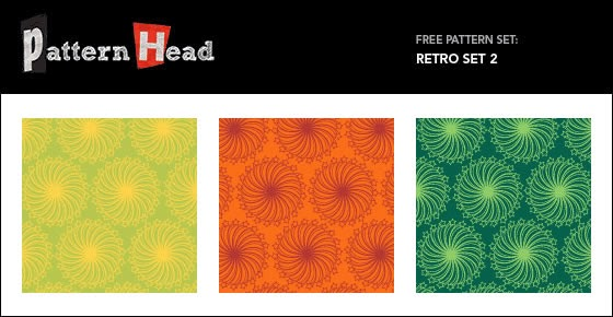 Vector Repeat Patterns – Retro Set 2