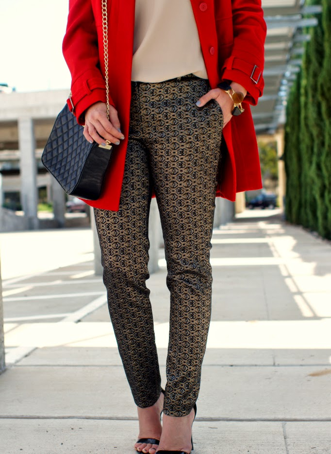 printed  baroque metallic pants
