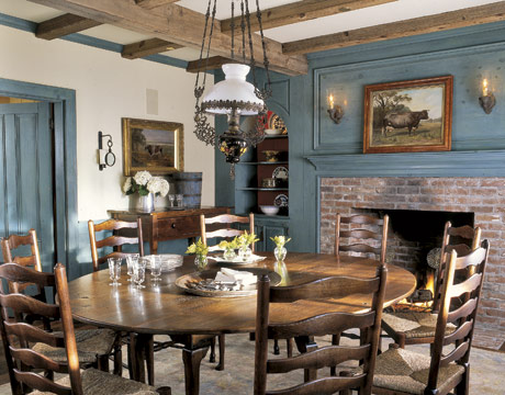 Little color to this rustic dining space photo by keith scott morton