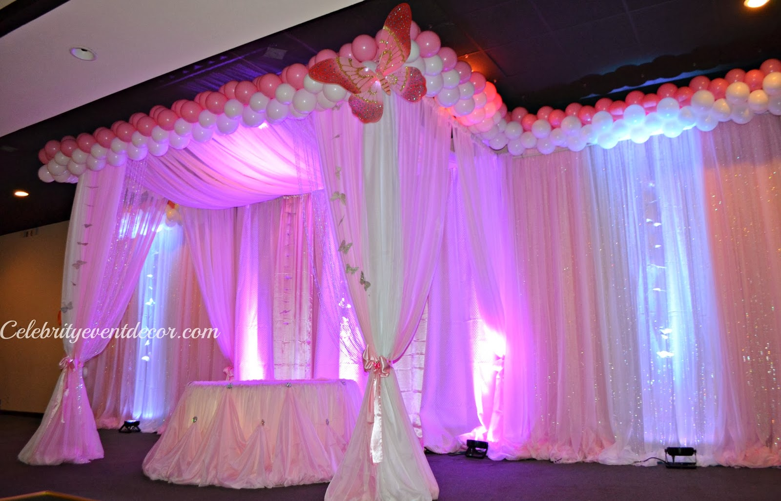 Celebrity event decor banquet hall llc for 1st birthday hall decoration ideas
