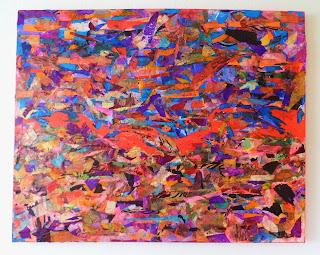 Terrain 17 mixed media 80x100cm