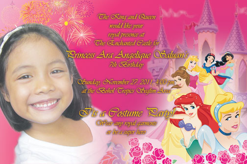 Angelique saloans 7th birthday invitation card tambay arts angelique saloans 7th birthday invitation card stopboris Gallery