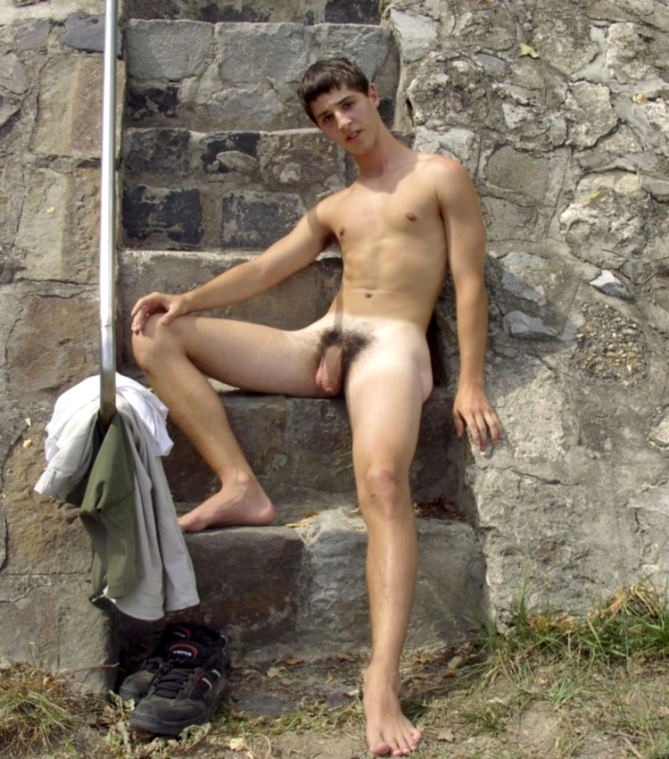male camping totally nude men