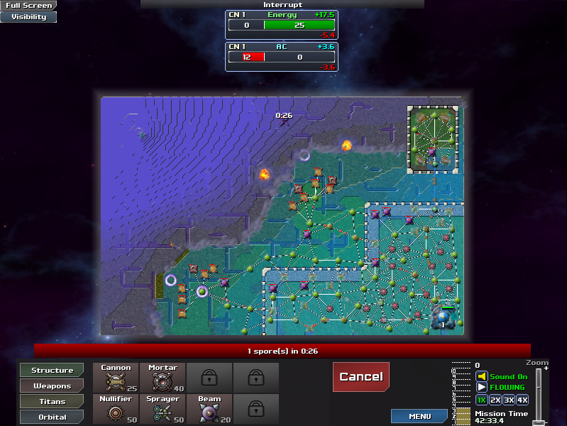 Awesomer than thou game reviews creeper world 3 abraxis you might notice that in a couple of screenshots there are glowing circles around some of my structures this is because in this game when you destroy an gumiabroncs Gallery