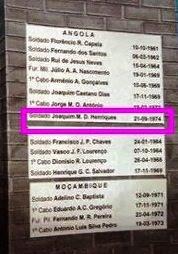 HENRIQUES, ATIRADOR DE ZALALA, FALECEU HÁ 42 ANOS!