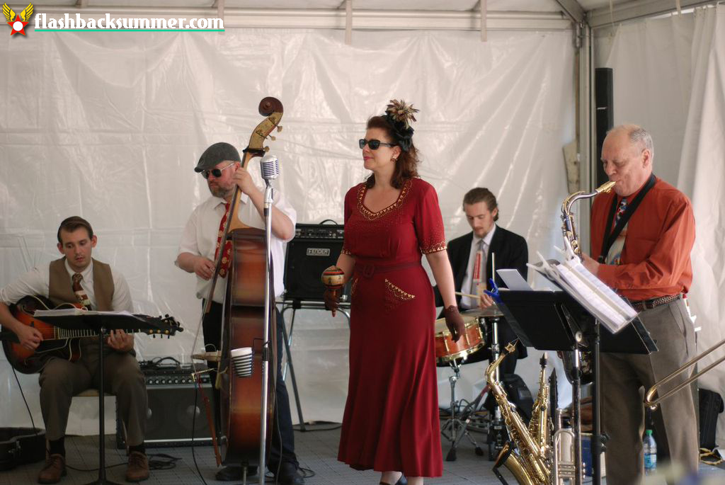 Flashback Summer: My 1940s Air Force Military Wedding - vintage swing band, Sarah Jane & the Blue Notes
