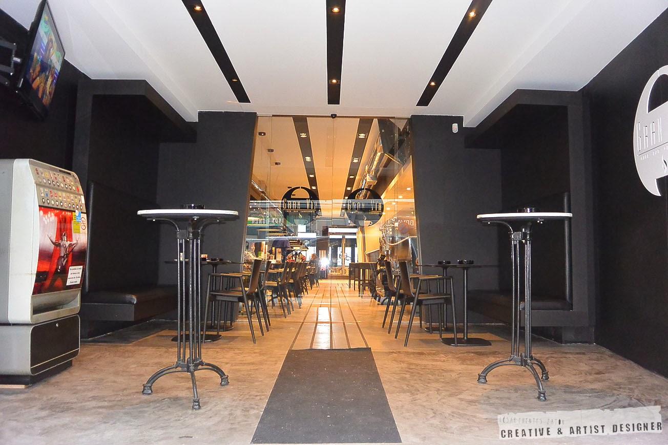 Proyecto de Interiosrismo Cafetería Gran Vía. (Terraza)