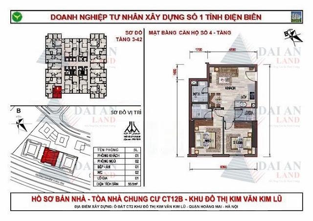 Căn 04 - Tòa CT12B Chung Cư Kim Văn Kim Lũ