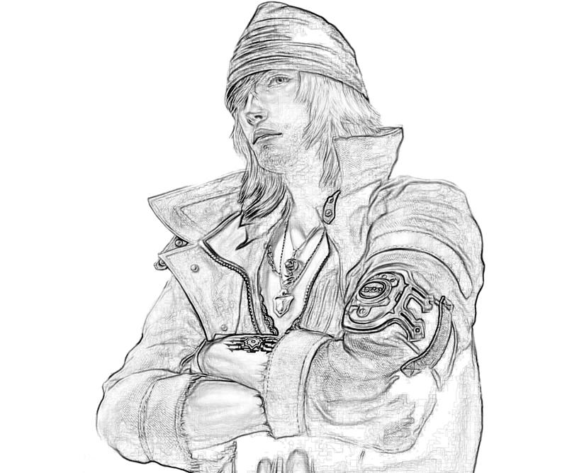 Final Fantasy XIII Snow Villiers Profil Coloring Pages title=