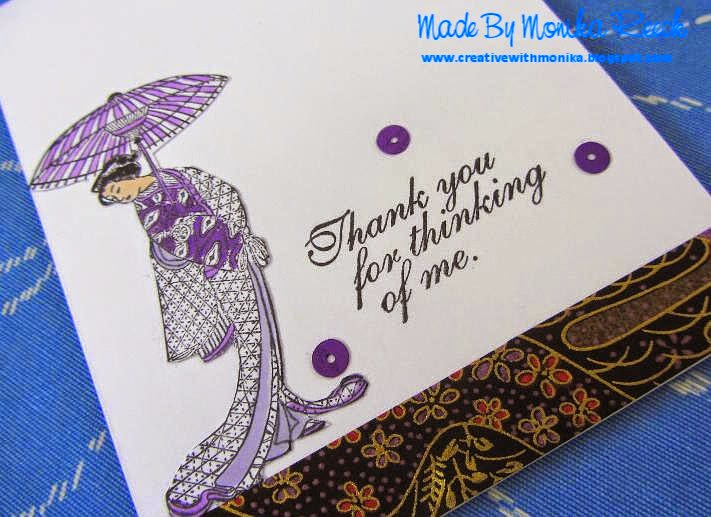 Creative With Monika Oriental A Card With Japanese Woman A