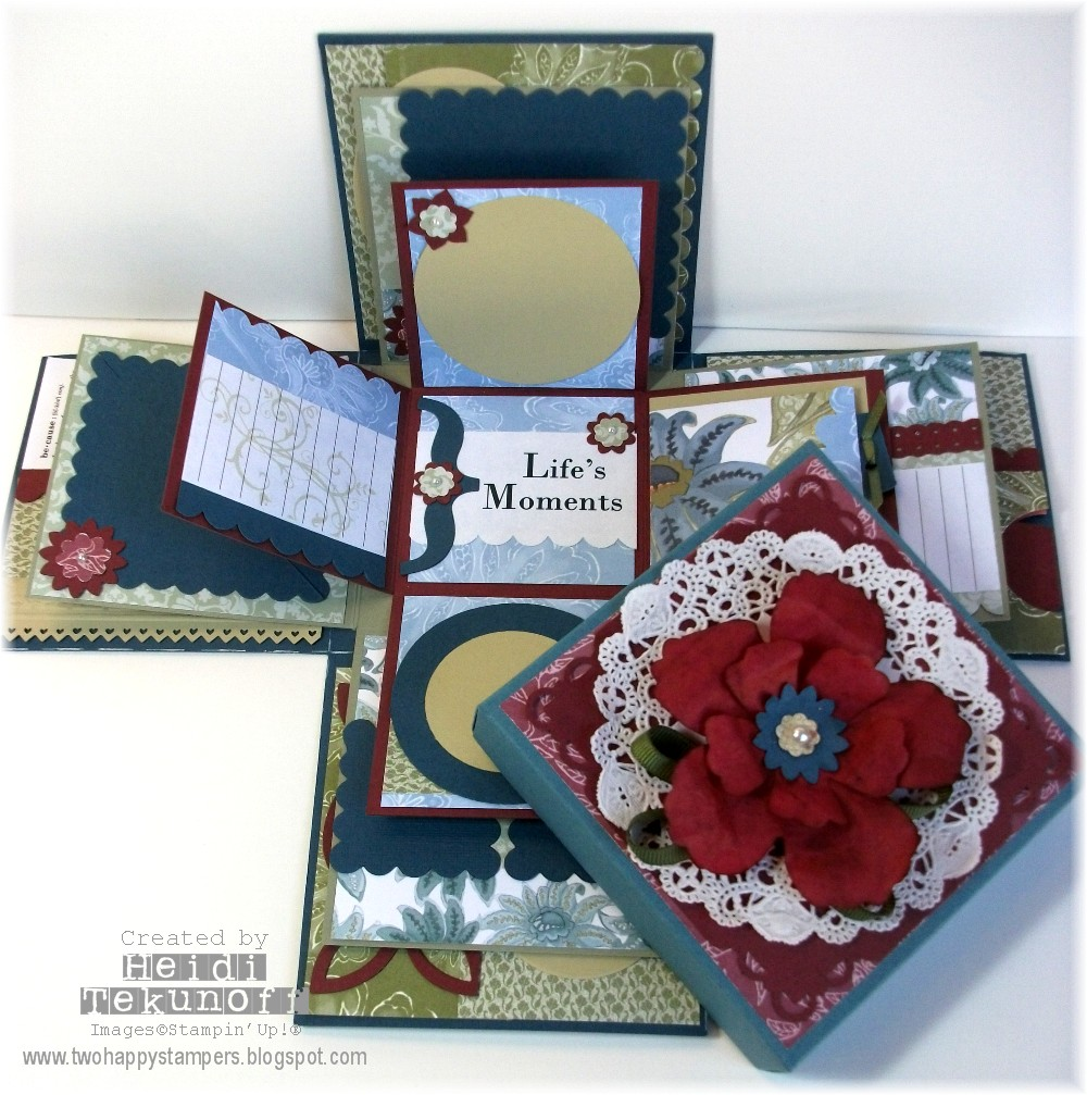 Two Happy Stampers Lifes Moments Explosion Scrapbook