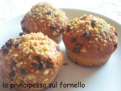 muffins cioccolato e noci, direttamente dalla tana del coniglio!