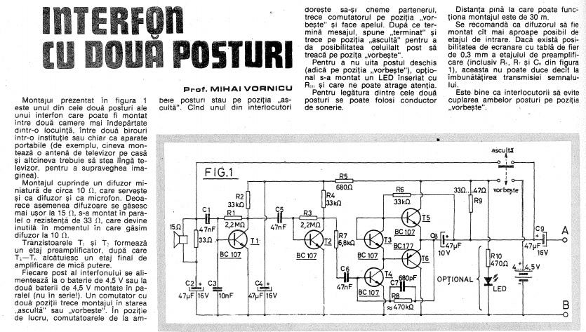 amplificator cu tranzistori de mica putere